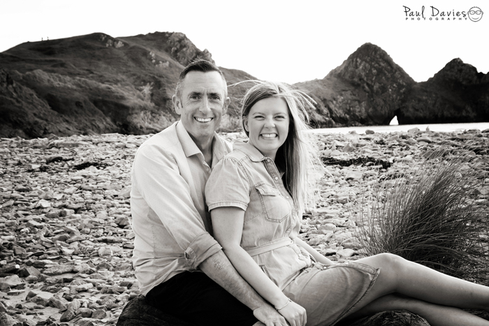 Family photoshoot at Three Cliffs Bay Gower
